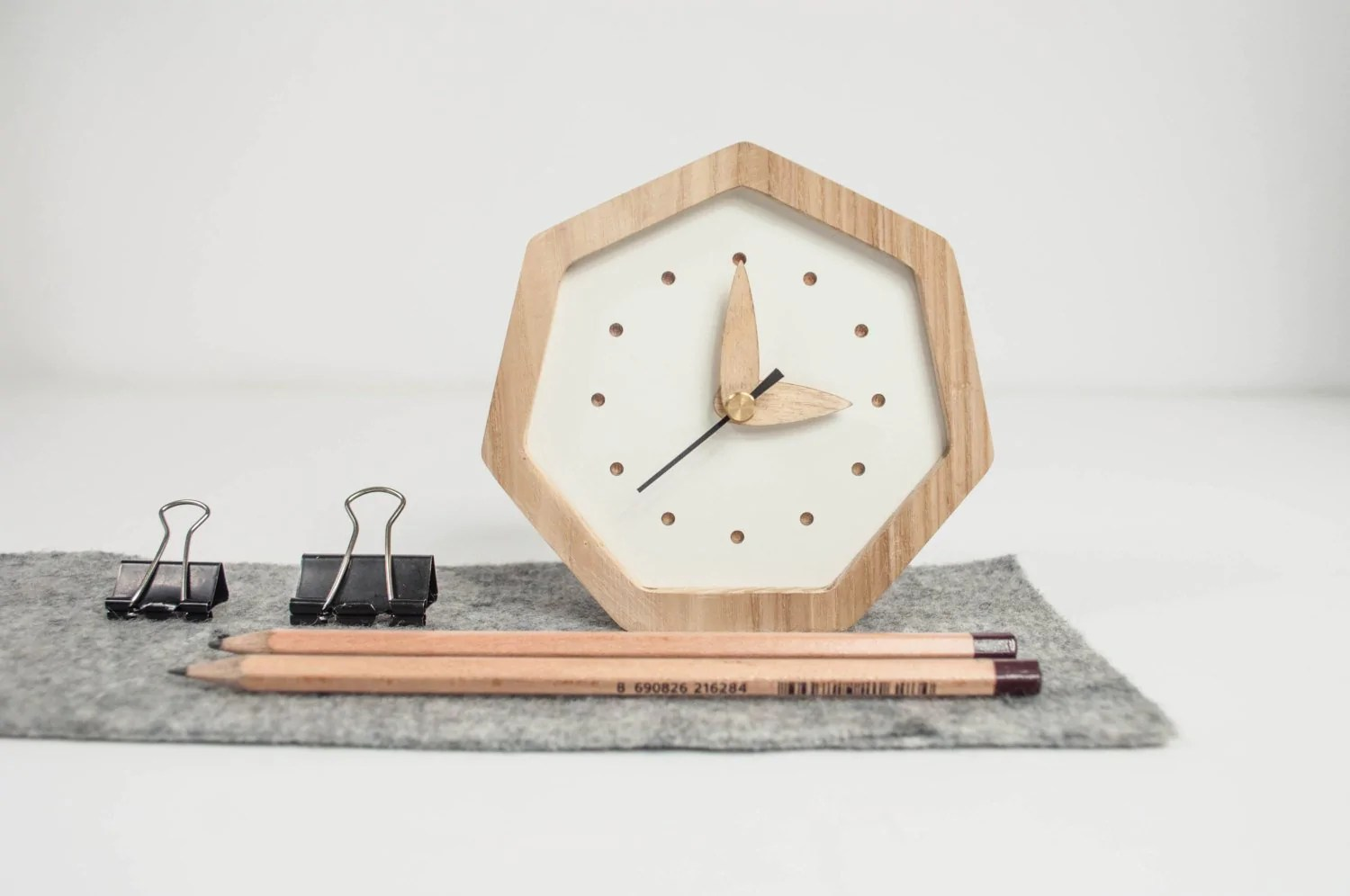 desk clock wood clock