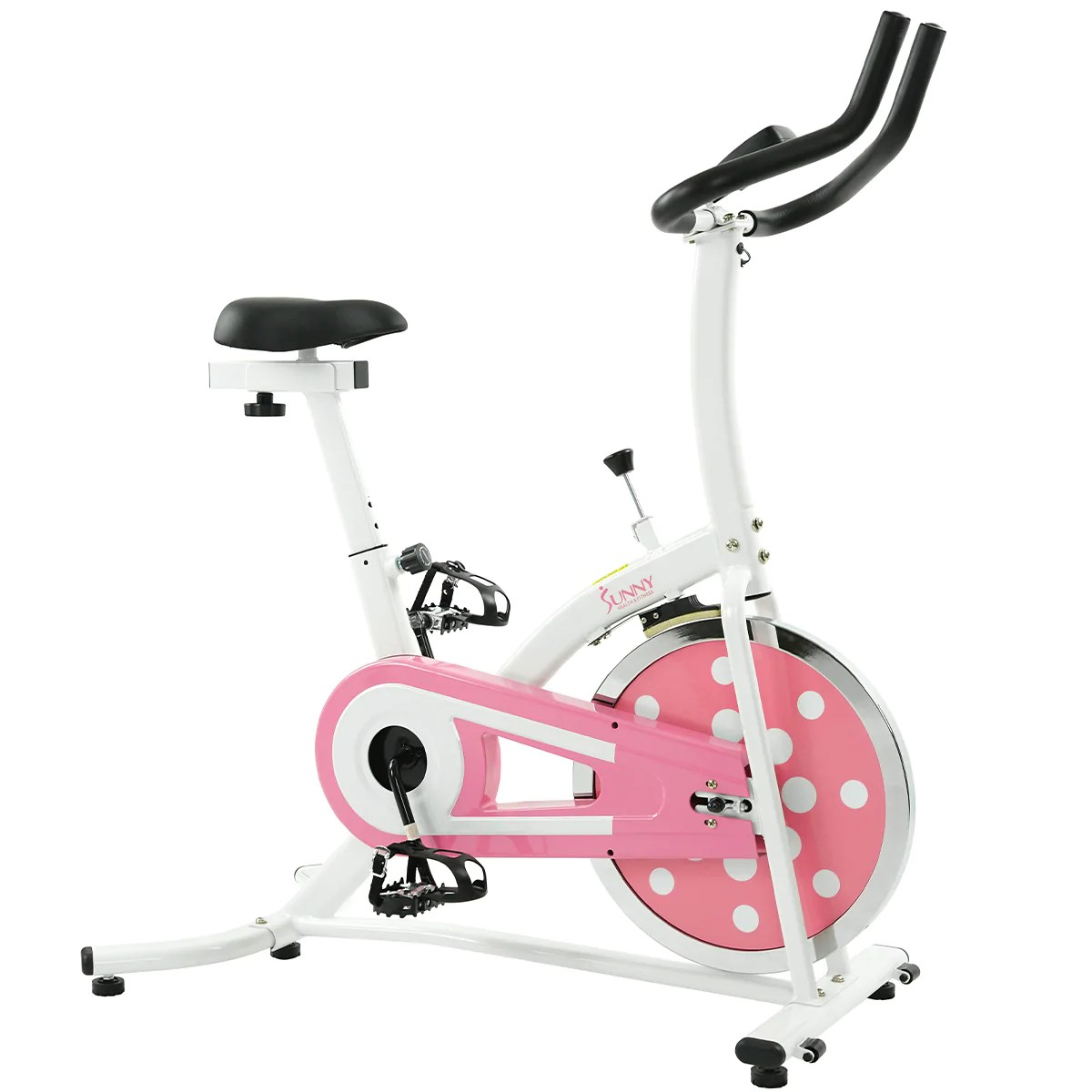 Pink Exercise Bike Chain Drive System With 22 Lb Flywheel Model P8100