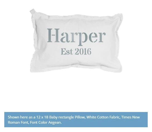 last name pillow personalize