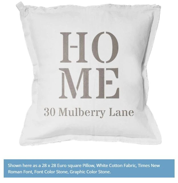 home address pillow personalize