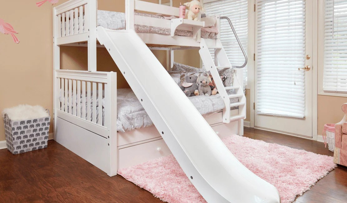 Twin Over Full Bunk Beds With Slides The Hot Look For Winter Maxtrix Kids