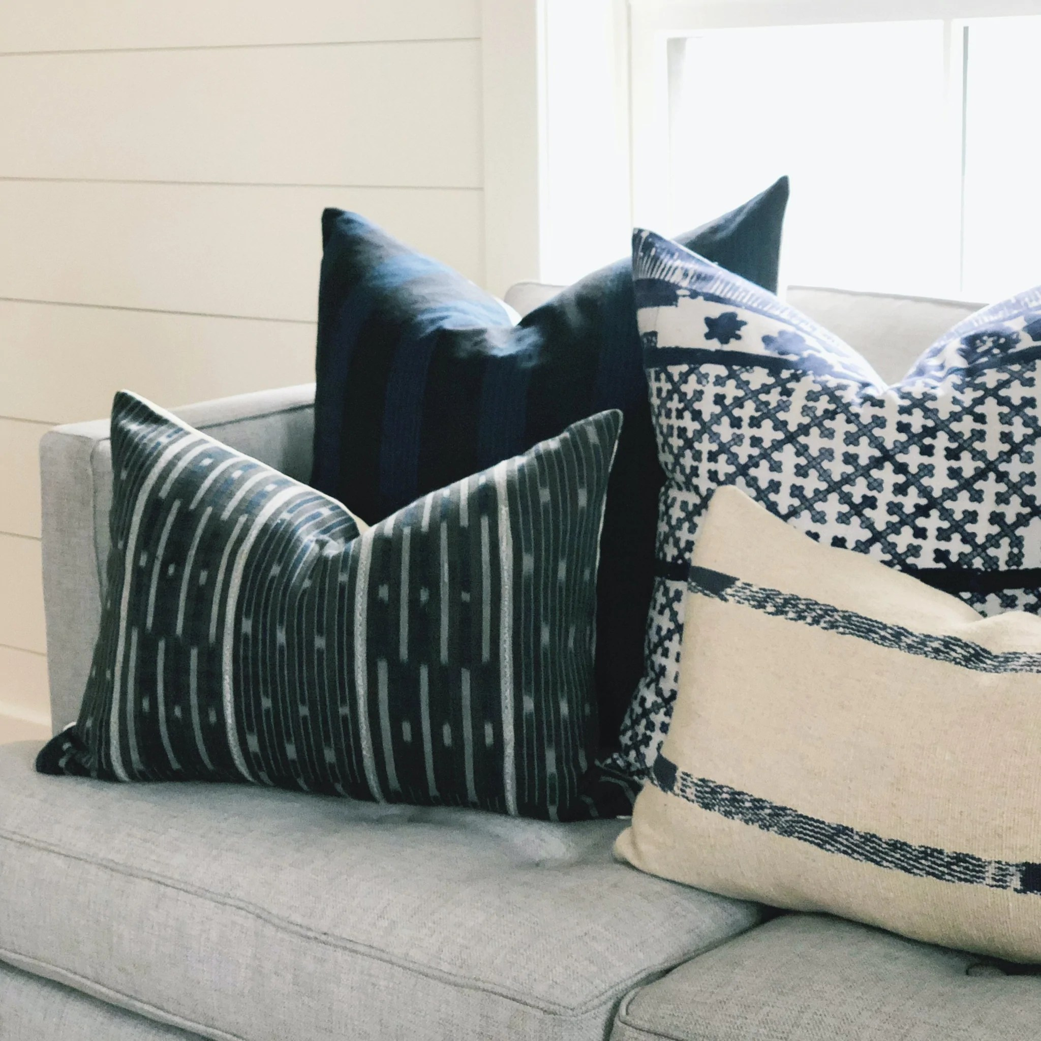 22x22 pillow cover midnight woven stripe no 1