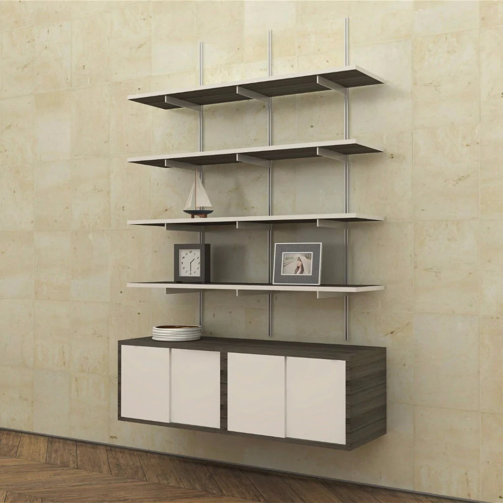 Item - Wall Mounted Shelves With Sliding Door