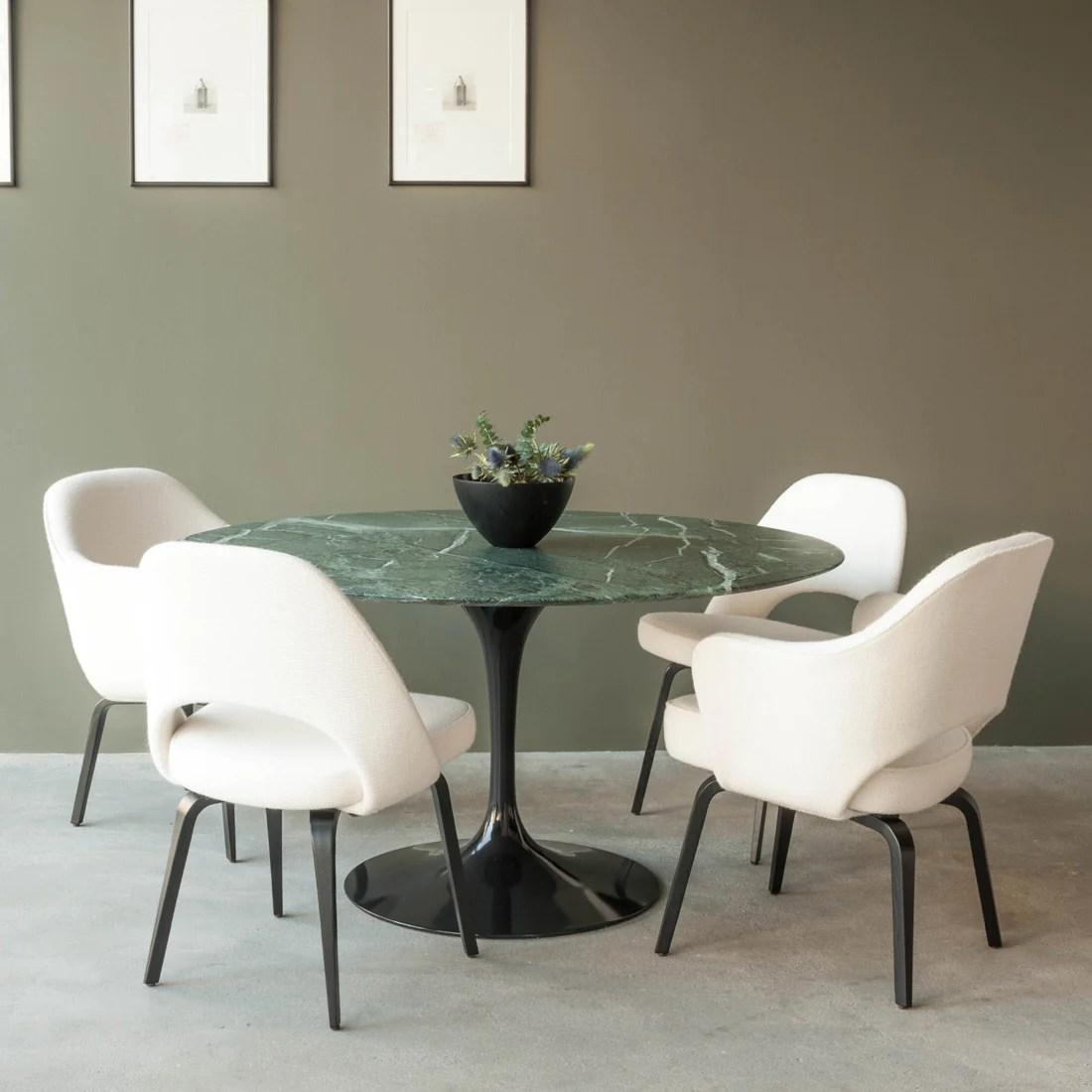 tulip table and chairs lovesac bean bag chair haus dining by eero saarinen knoll