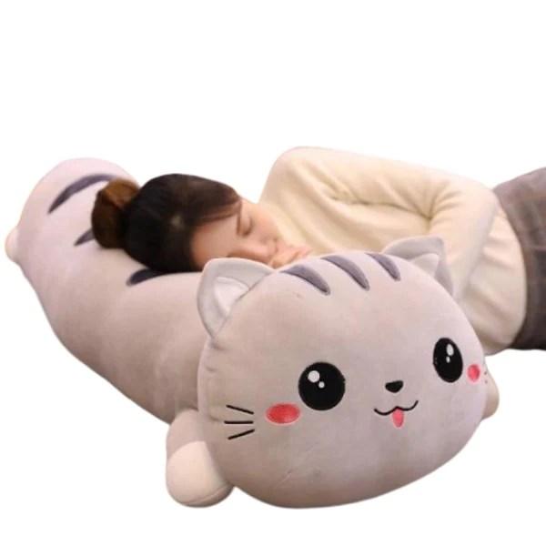 mochi the soft cat body plush pillow cat plush toy