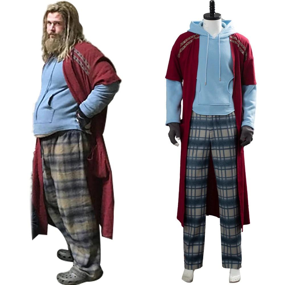 avengers 4 endgame thor pyjama fat thor costume cosplay costume
