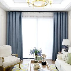 Living Room Curtain Pics With Sectional And Chairs Layout Home Decor Darpe Faux Linen Rideaux Window Curtains