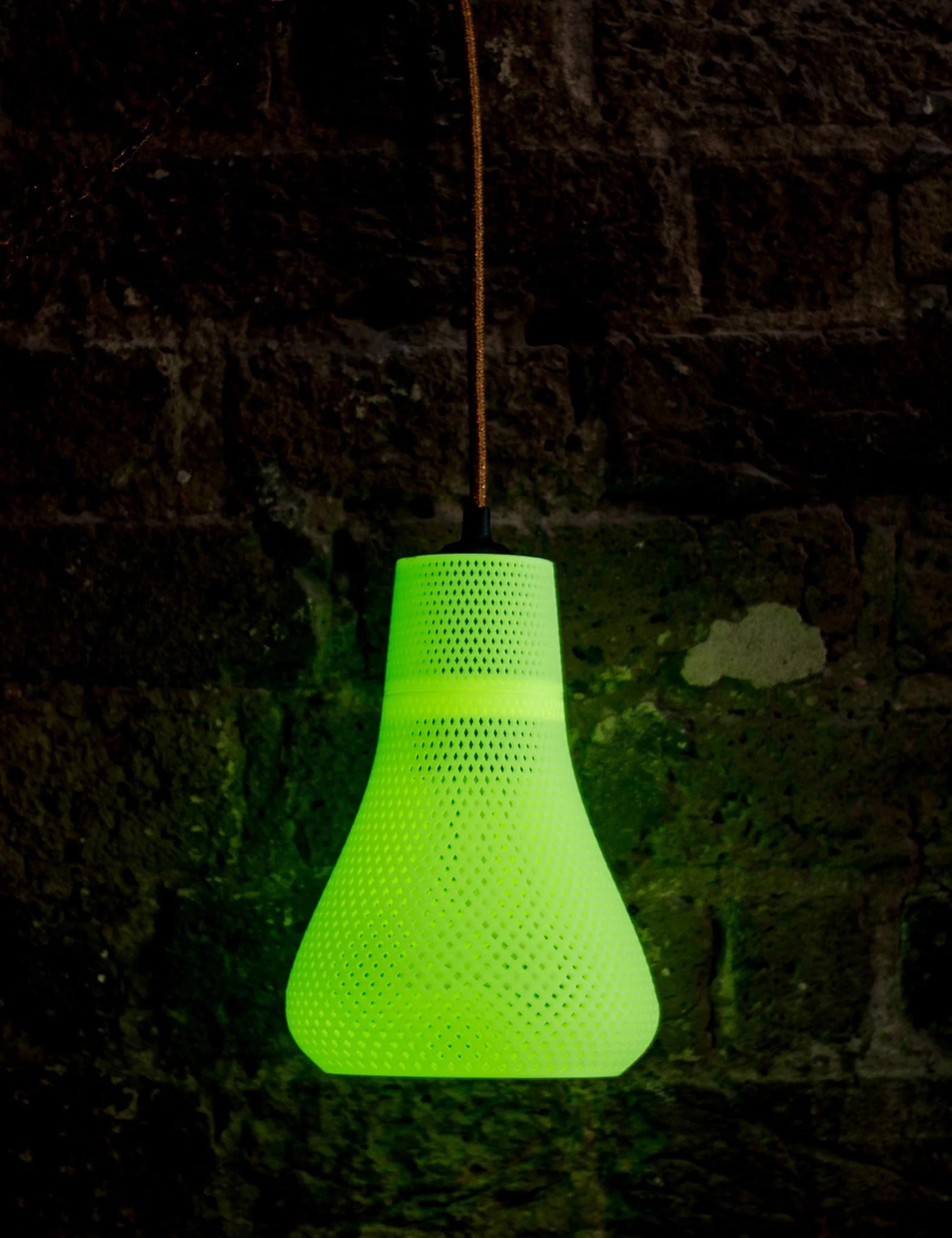 Kayan 3d Printed Lamp Shade With Plumen Bulb Plumen Uk