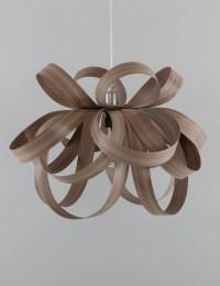 Skipper Pendant Light with Plumen Bulb - Walnut  PLUMEN UK