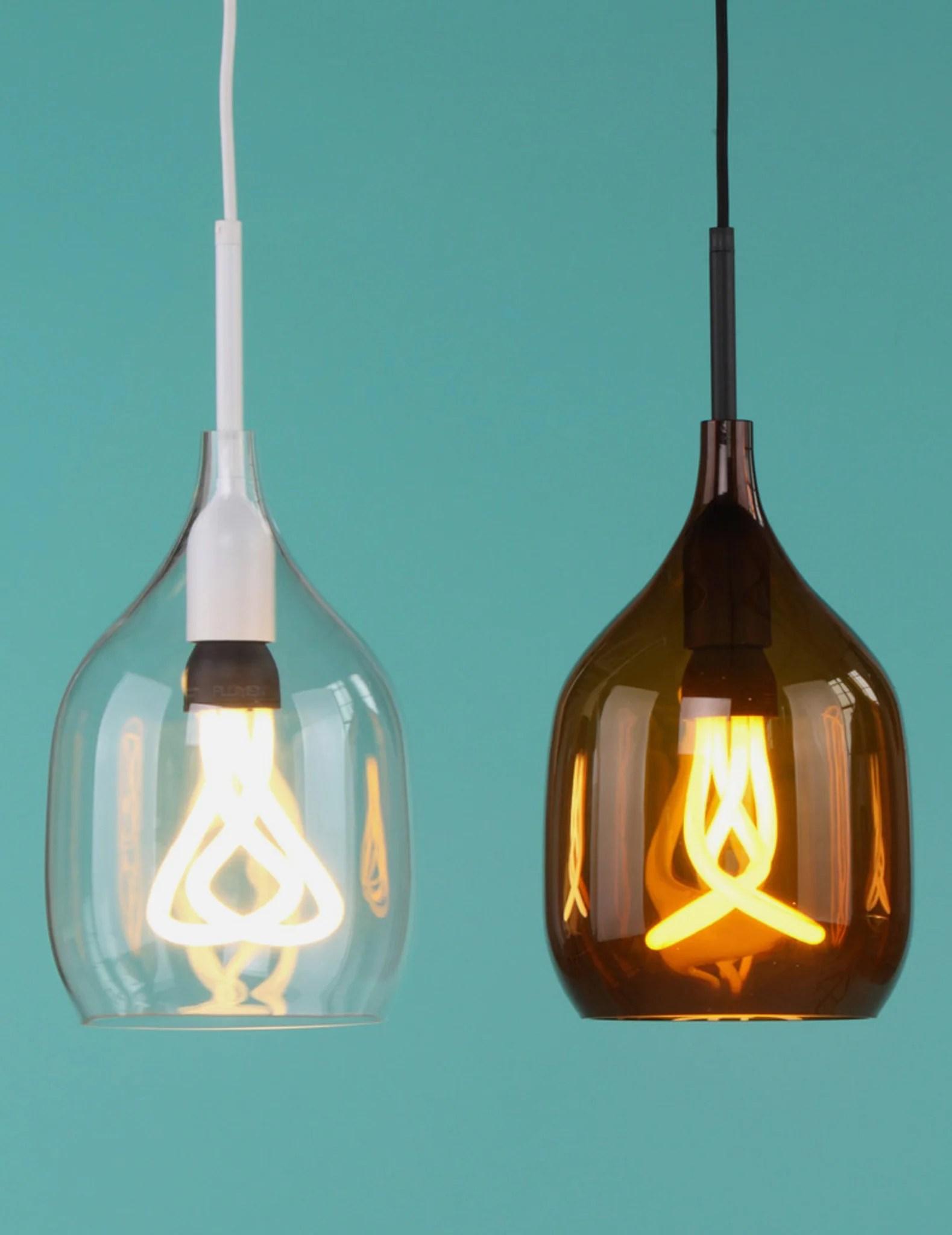 Bronze Vessel Flat Cut Lamp Glass Lamp Shade  PLUMEN UK