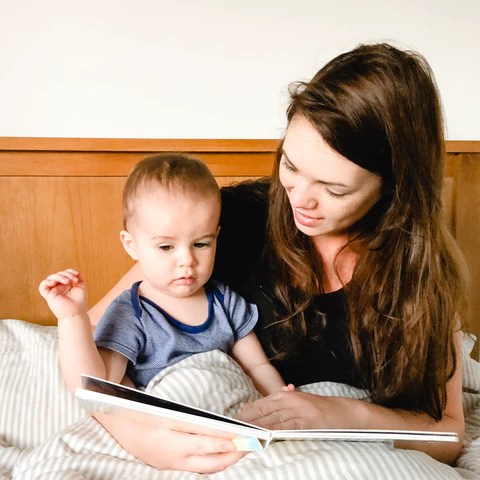 Reading with baby - sleep routines
