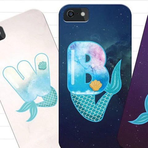 mermaid lettering SVG
