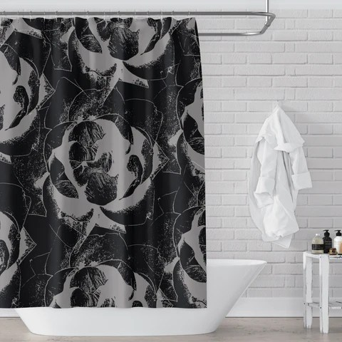 black and white shower curtains metro