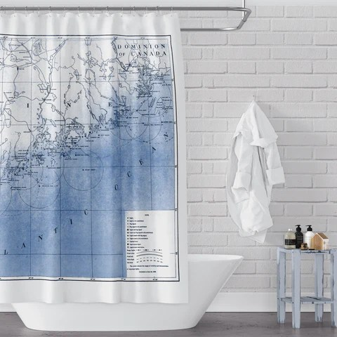 beach coastal shower curtains metro
