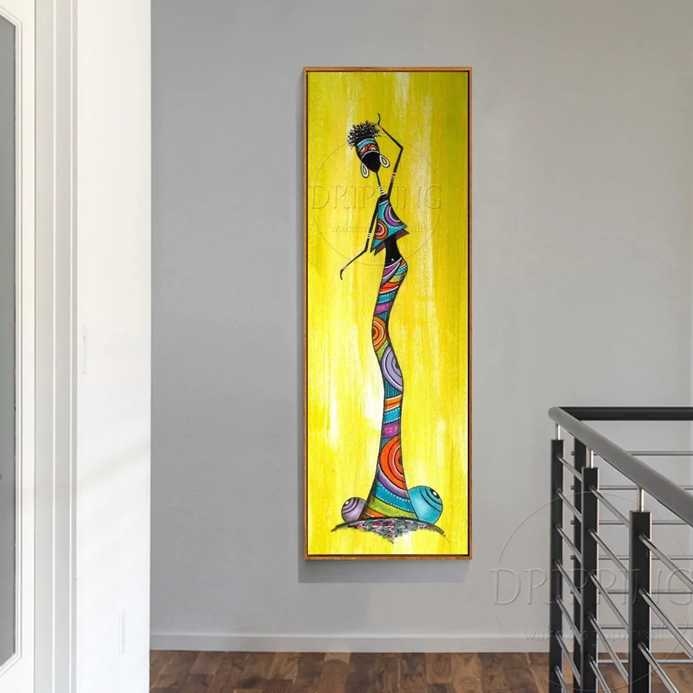 Unique Wall Art Pictures Artist Hand Painted Long Size Vertical Rectan Onshopdeal Com