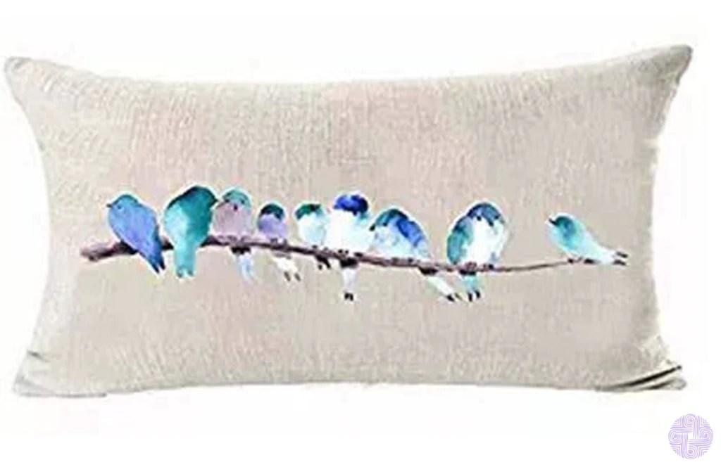 bird inspired throw pillow