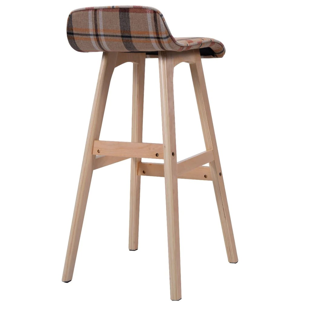Wood Bar Chairs Set Of 2 29 Inch Wood Bar Stools With Vintage Design