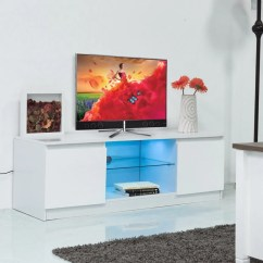 Living Room Media Furniture Blue And Brown Decor Led Lit Tv Stand Console Carol Dawne Hover To Zoom