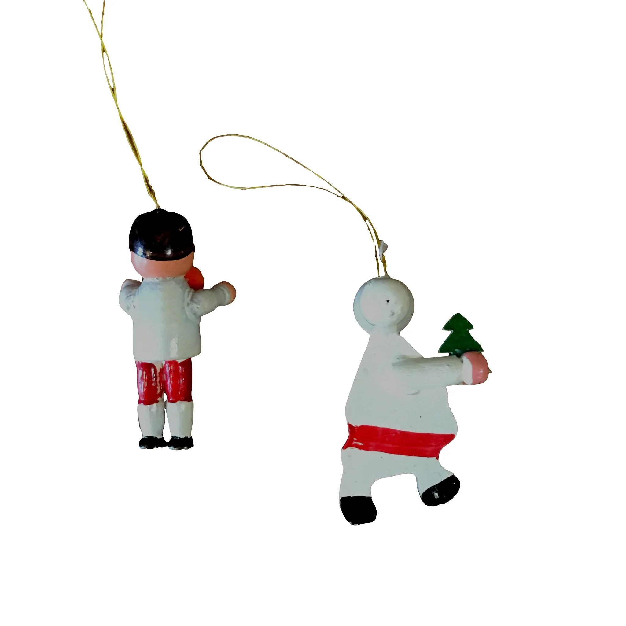Hand Painted Wooden Christmas Ornaments
