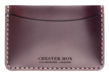 #52 Ox Blood Chromexcel Dual Side Wallet (Horween)
