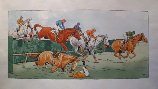 1920s  1930s Vintage French Art Deco Equestrian Posters