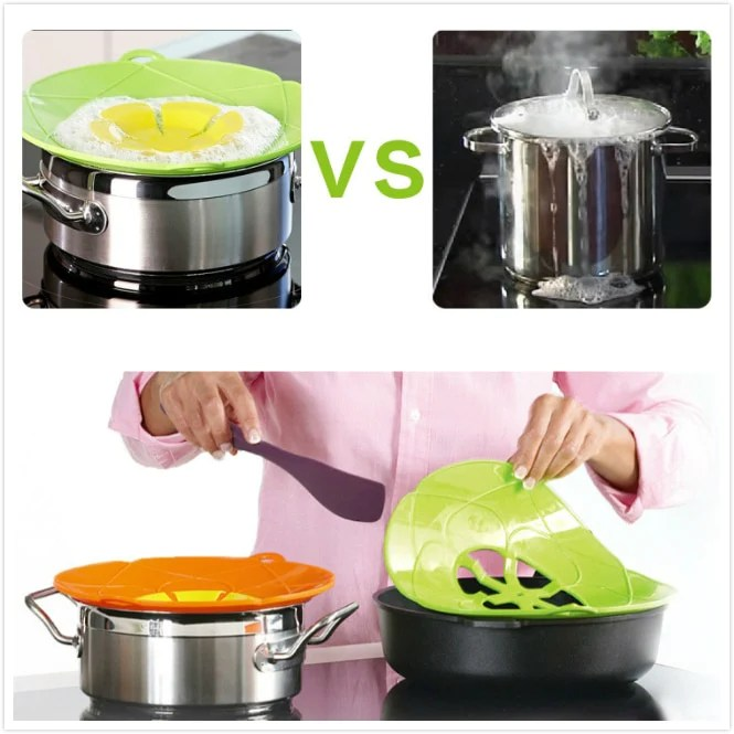 kitchen gadgets small sink ideas silicone lid spill stopper cover for pot pan accessories cooking tools flower cookware