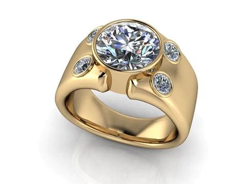 Mens Diamond Signet Band By Spexton Spexton Custom Jewelry