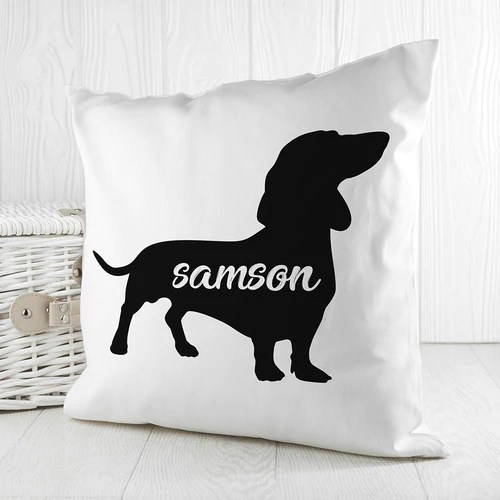 dog silhouette pillow cover