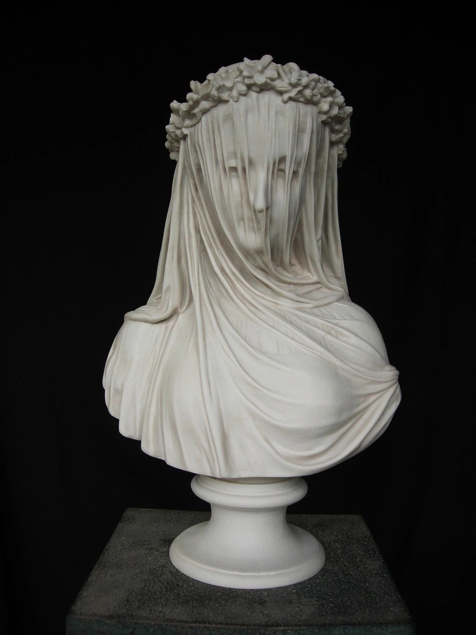 Marble Veiled Lady Sculpture