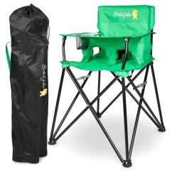 Green High Chair Chairs Like Dxracer Portable Baby For Travel Camping Highchair With Eating Tray