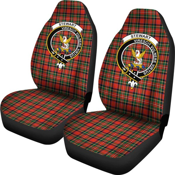 Seat Cover  Tartan Crest Steward Car Seat Cover