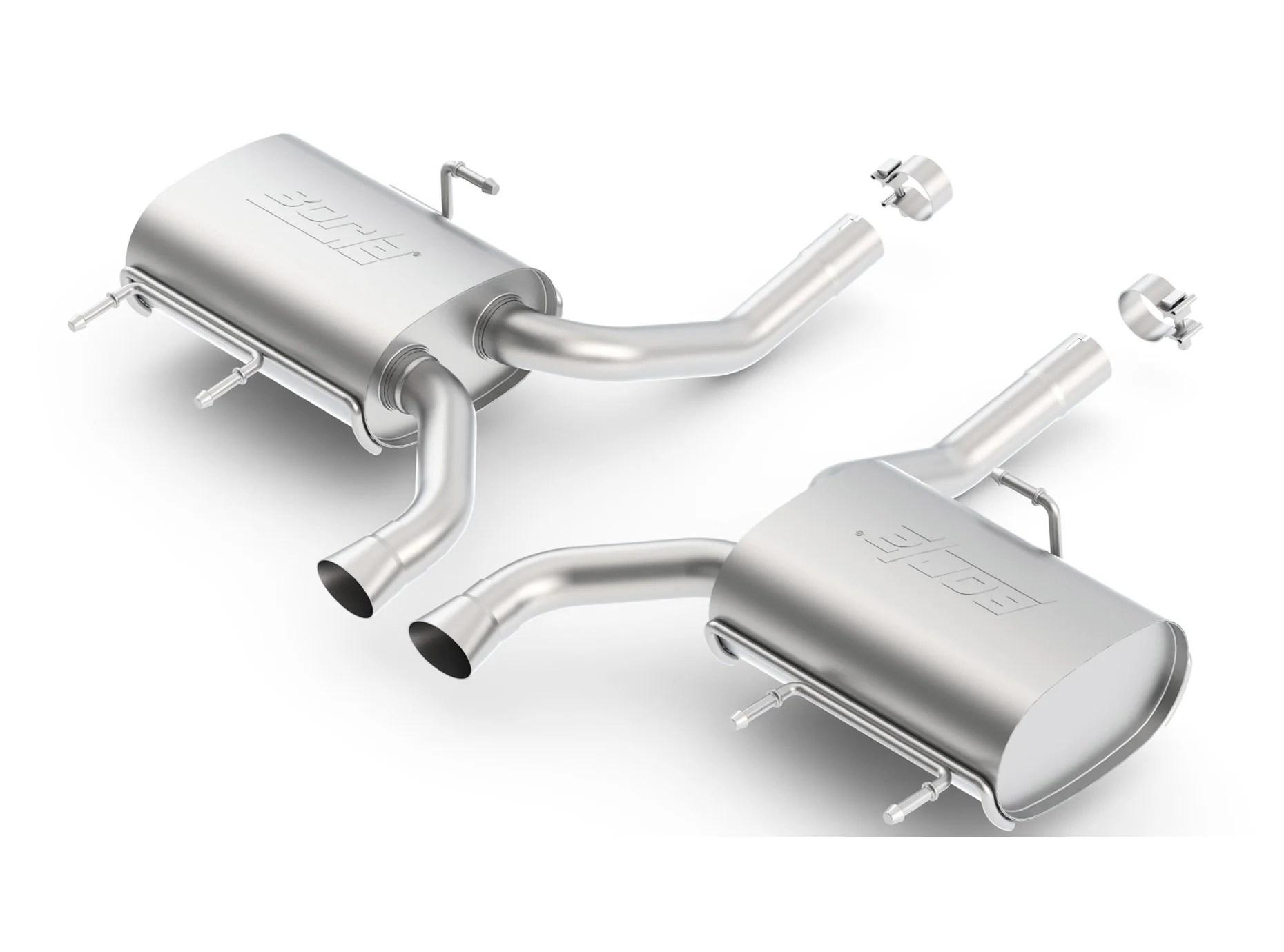 borla axleback exhaust cadillac cts coupe 3 6 v6 w auto trans touring sound 11 14 11824