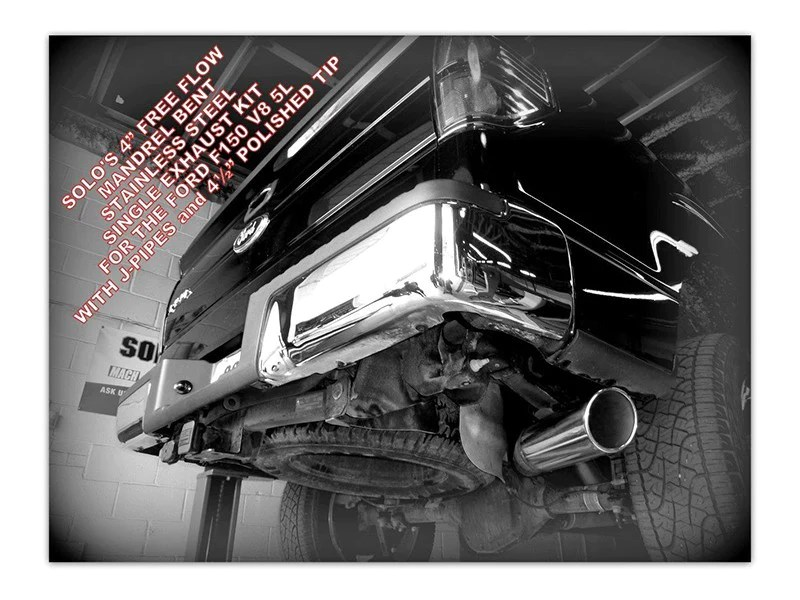 solo performance mr400 single 4 catback exhaust ford f150 5 0l v8 11 14 145 or 157 wheel base