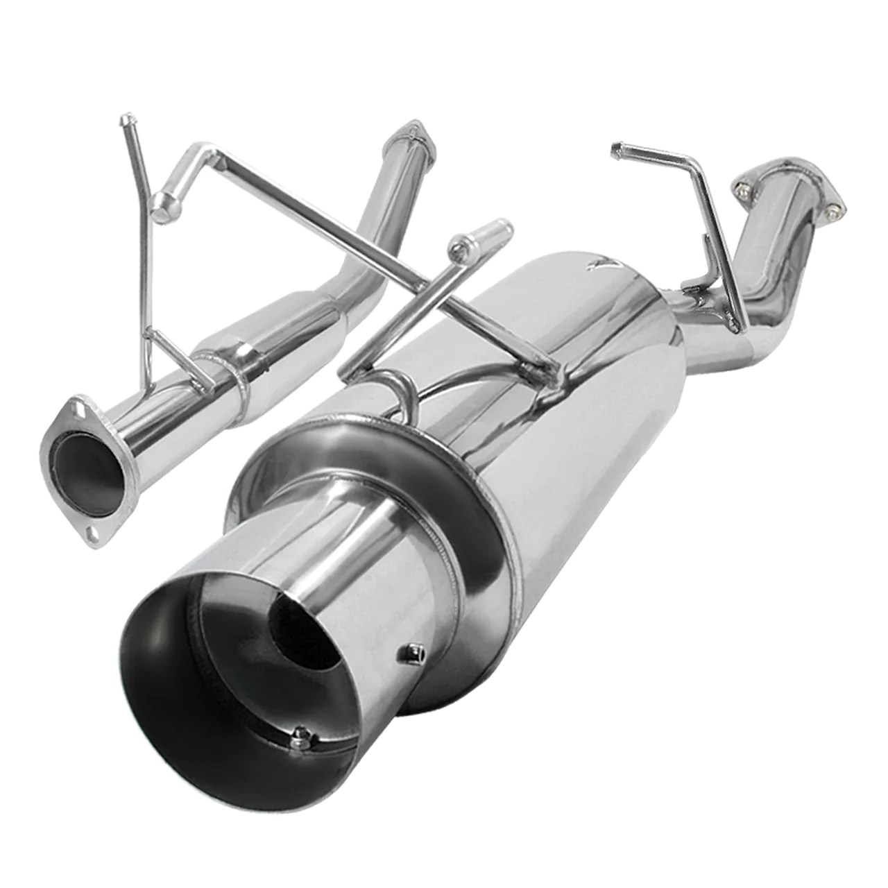 spec d tuning exhaust nissan 240sx s13 89 94 3 n1 muffler w polished or blue burnt tip