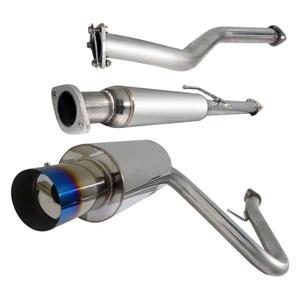 spec d tuning exhaust scion tc 2005 2010 catback n1 muffler polished blue burnt tip