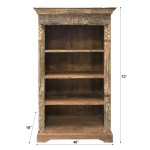 6 Foot Tall Reclaimed Rustic Solid Wooden Bookcase Bai S