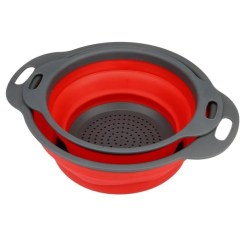 Kitchen Colander Aid Appliances 2 Pieces Of The Collapsible Lopaxi
