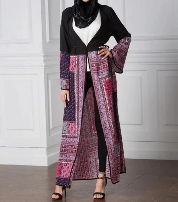 Print mash- up abaya