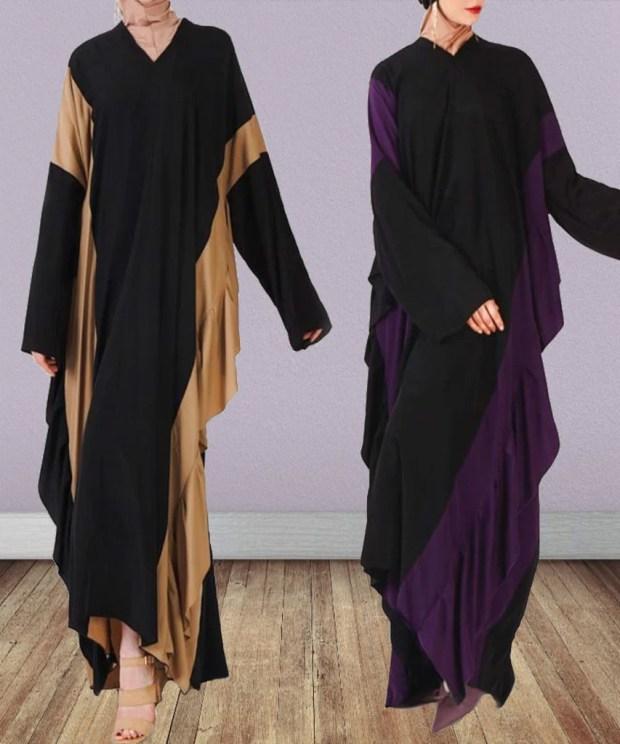 Ruffled Silhouette Abaya