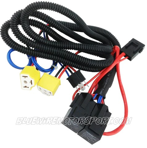 Bluewire Automotive HEADLIGHT POWER BOOSTER RELAY WIRING HARNESS