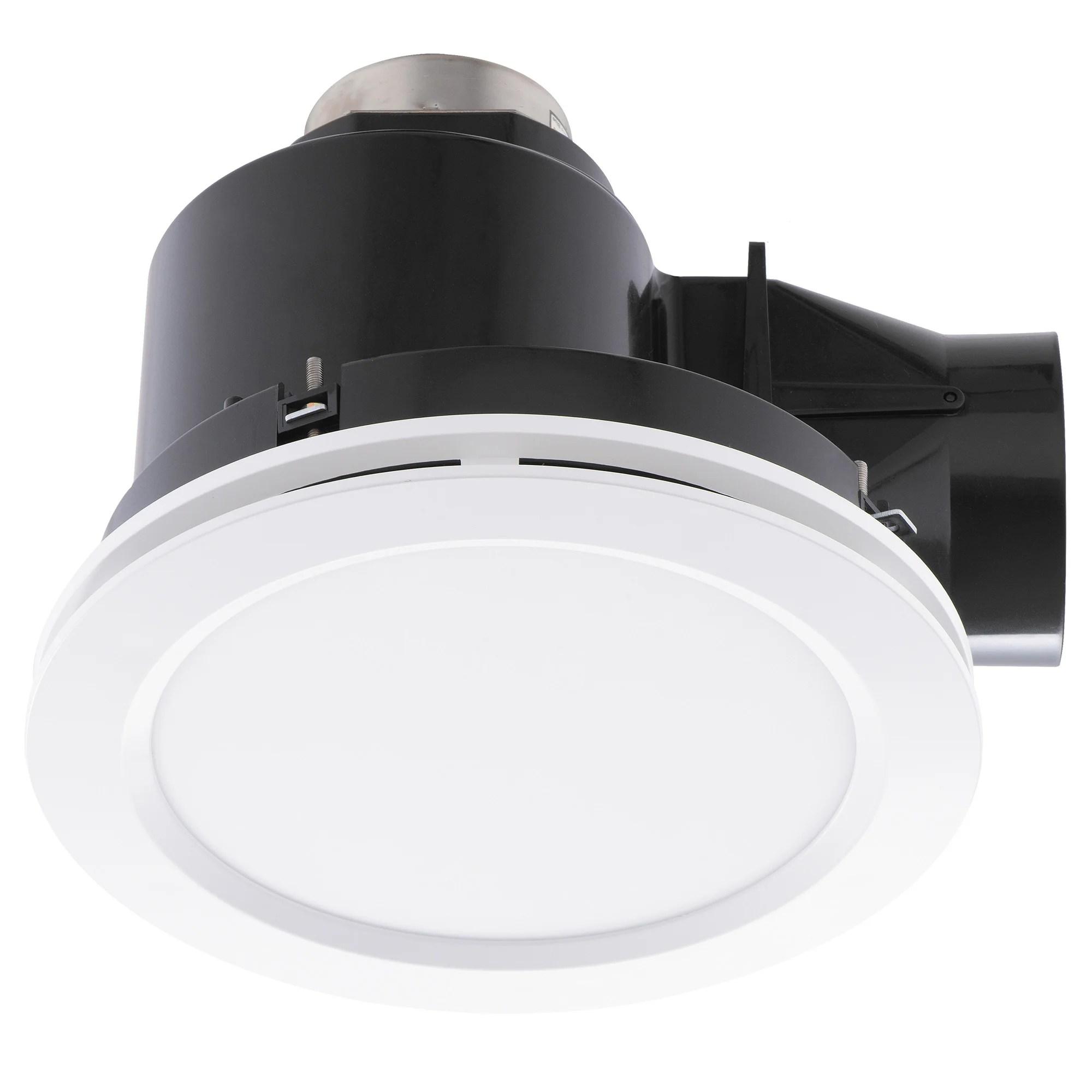 revoline white small bathroom exhaust fan with tri colour light