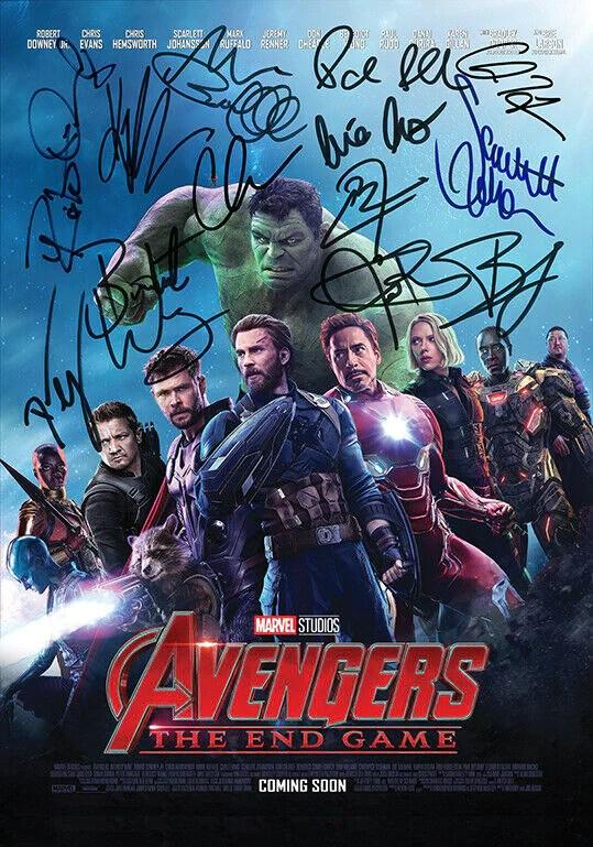 avengers endgame quality autograph