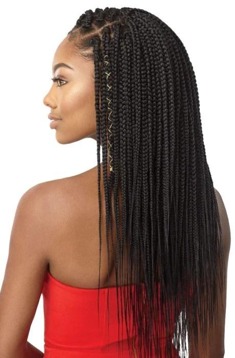 Outre X Pression Synthetic Hair Crochet Box Braid Medium Natural
