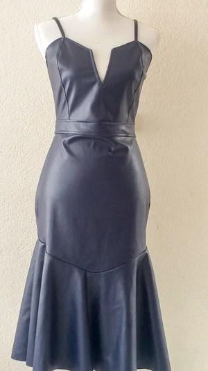 faux leather dress m