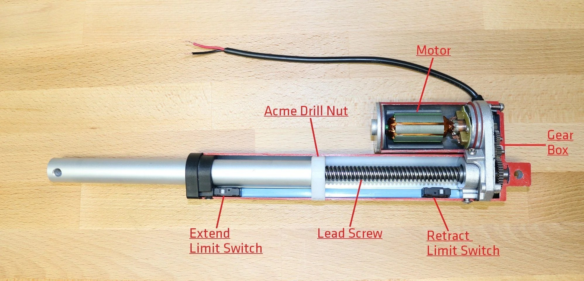 inside a linear actuator [ 1996 x 960 Pixel ]