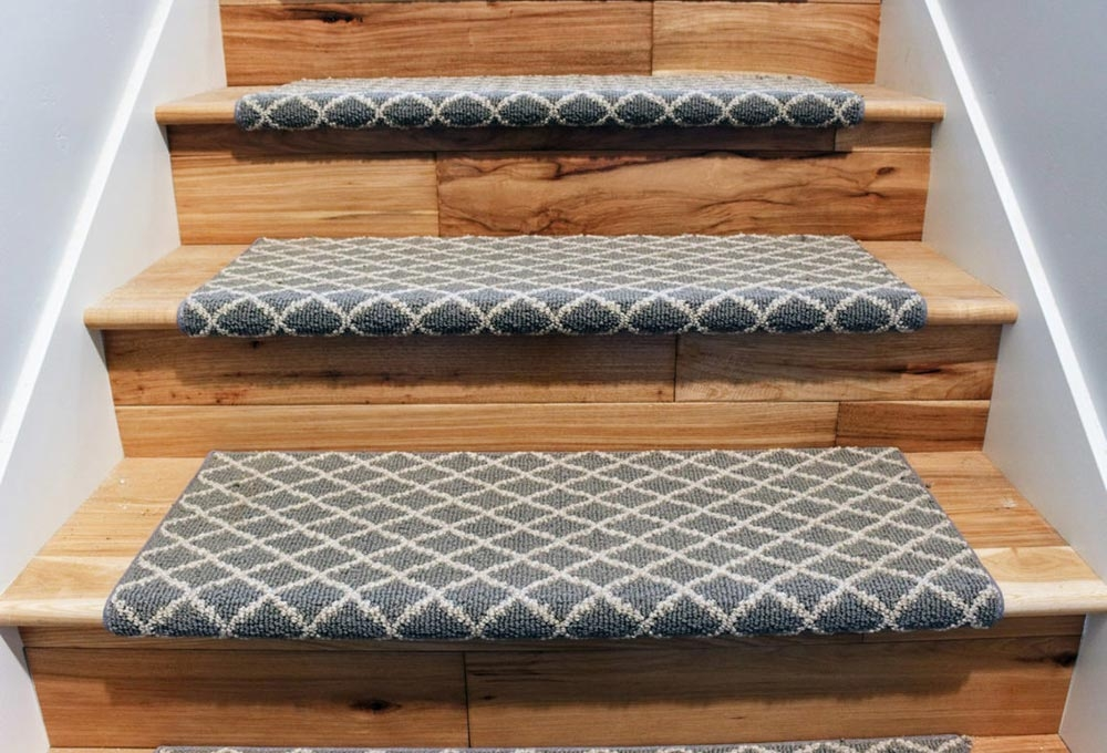 Stairs With Flair Standard Paint Flooring   Carpet In Middle Of Stairs   Exposed Tread   Hardwood   Wood   Victorian   Popular