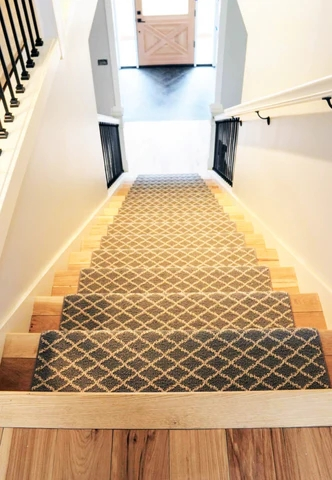 Stairs With Flair Standard Paint Flooring | Stairs With Carpet In The Middle | Runner Corner | Laminate | Contemporary | Run On Stair | Marble