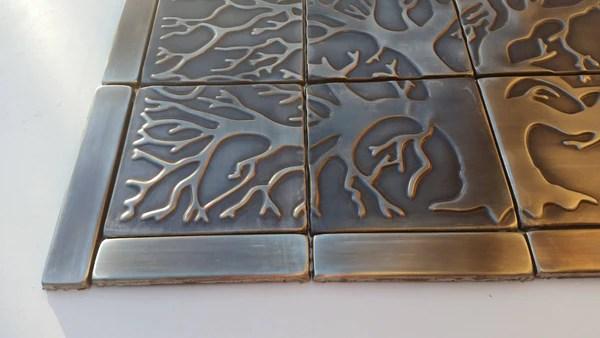 tree of life kitchen backsplash tiles set of 20