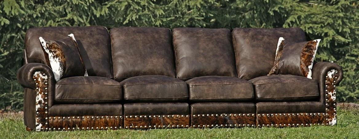 Split Rail Curved Western Leather, Cowhide Western Furniture Facebook