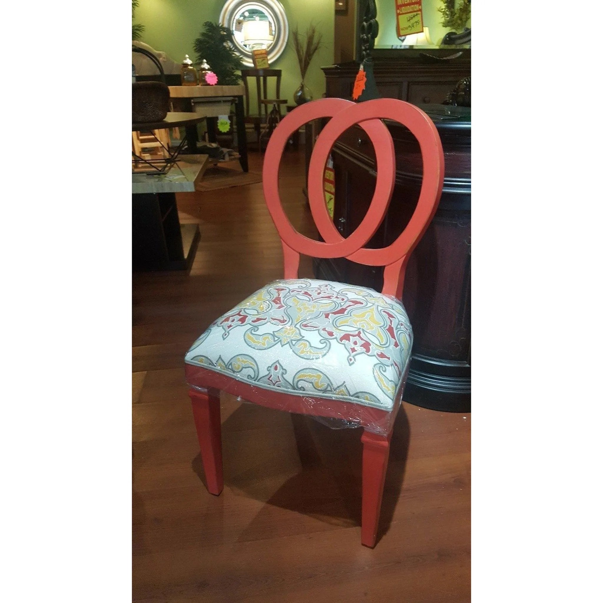 Dining Chair Set Of 6 Steven Shell Oso Dining Chairs Set Of 6 Cherry Red Distressed Finish